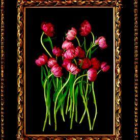 Stilleven met tulpen van Thomas Jäger