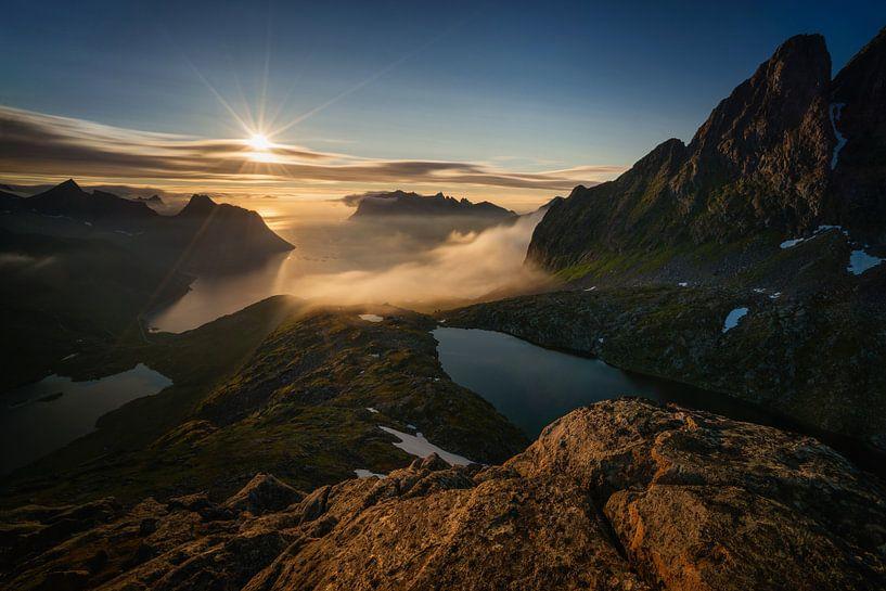Breidtinden sunset van Wojciech Kruczynski