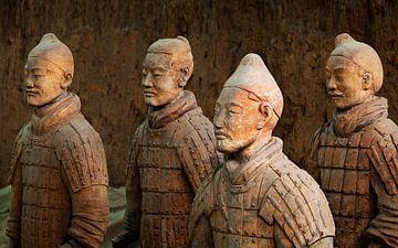 Terracotta leger in Xi'An van Chris Stenger