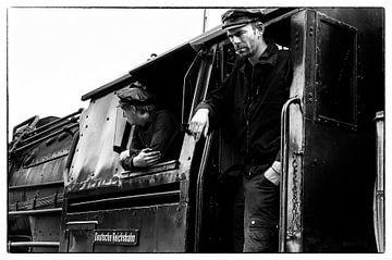 Steamtrain driver van Fouchienus Molema