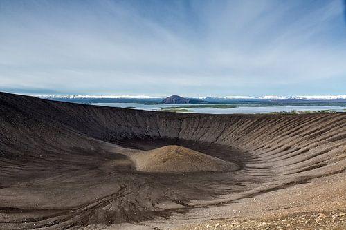 Krafla krater van