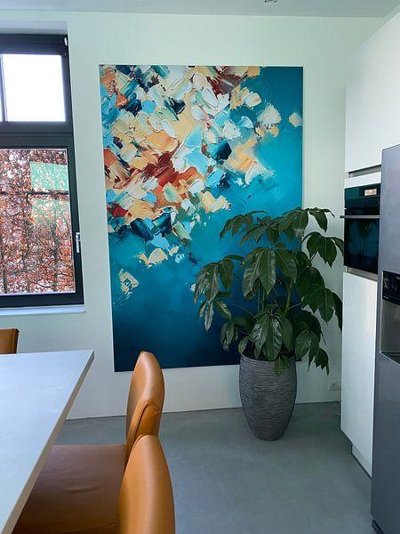 Klantfoto: Autumn Textures 6 van Maria Kitano, op print op doek