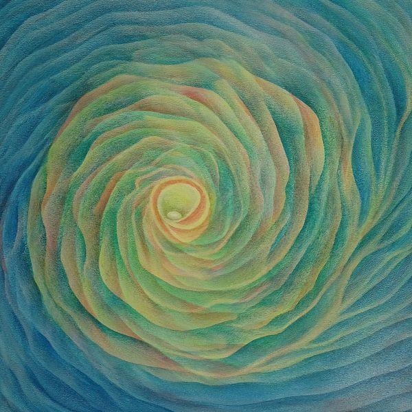 Kosmische bloem vierkant van Ingrid van El