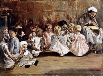 Kleinkinderschule, Max Liebermann, 1875 von Atelier Liesjes