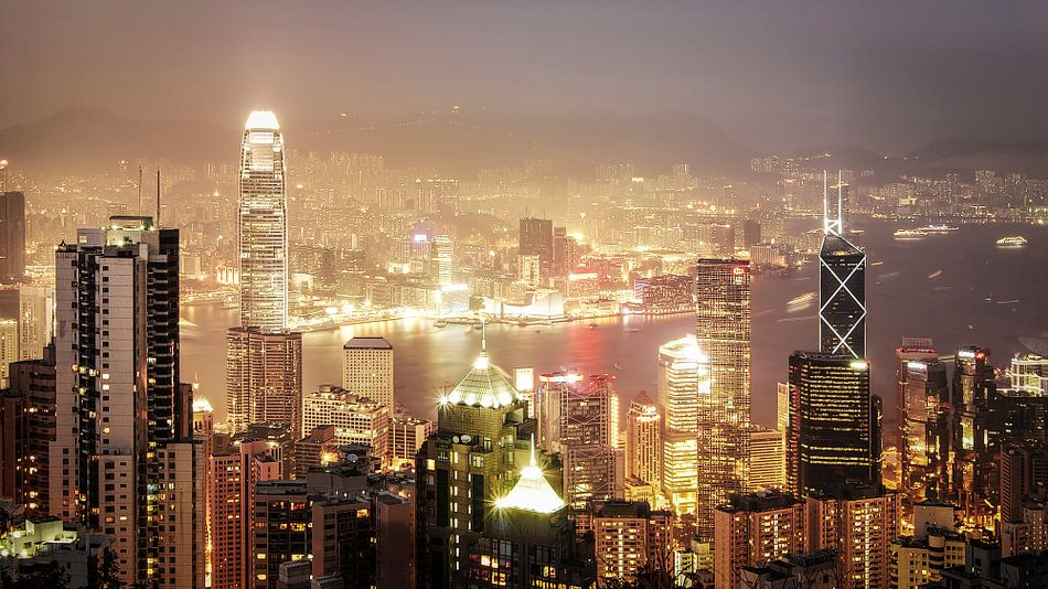 Hong Kong Dusk van Maarten Drupsteen