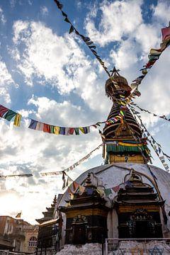 Kleine stupa in Kathmandu van Mickéle Godderis
