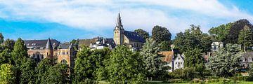 Panoramafoto van de oude binnenstad van Essen Kettwig an der Ruhr van Dieter Walther