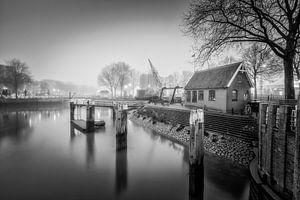 Oude Haven Rotterdam Zwartwit van