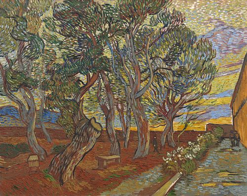 Vincent van Gogh, De tuin van de inrichting van 1000 Schilderijen