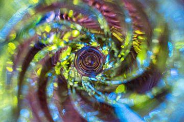 Whirlpool abstrakt in hellen Farben von Lisette Rijkers