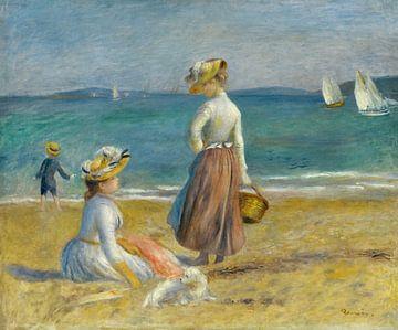 Les chiffres sur la plage, Auguste Renoir sur