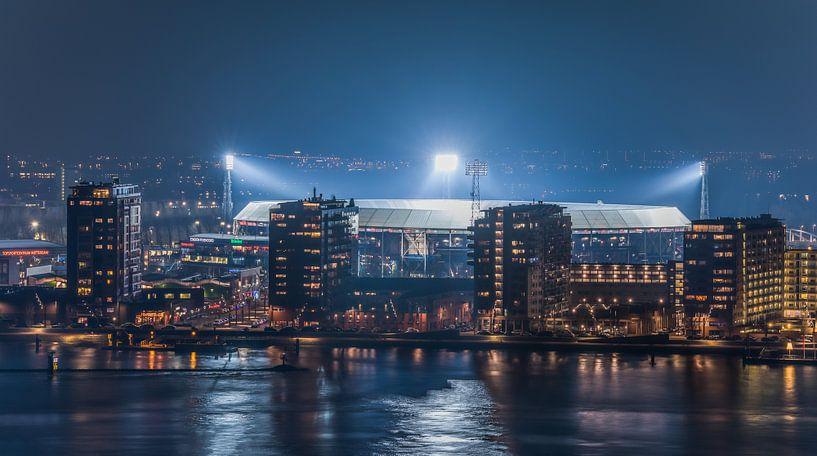 "Feyenoord Stadion ""De Kuip"" Luchtfoto 2018 in Rotterdam van MS Fotografie | Marc van der Stelt"