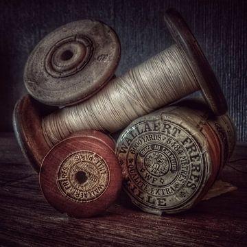 vintage garen bobijnen  van Creativiato Shop