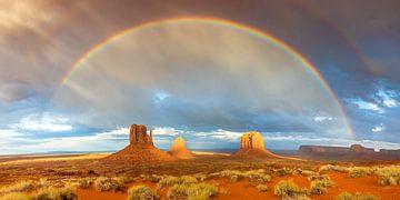 Regenbogen über dem Monument Valley von Reismaatjes XXL