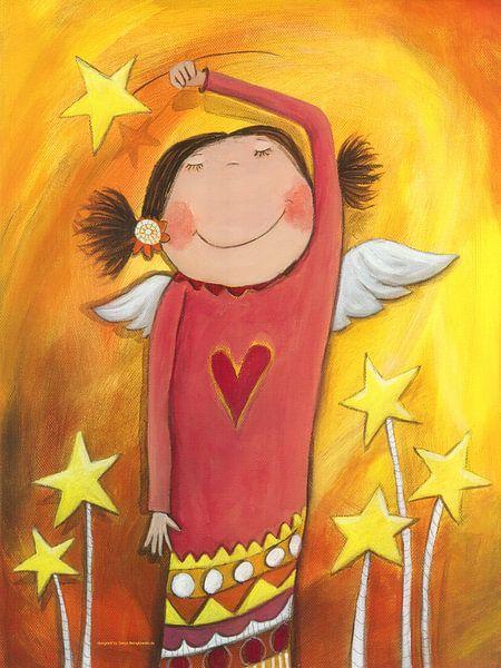 Engel - Schilderij voor Kinderen van Atelier BuntePunkt
