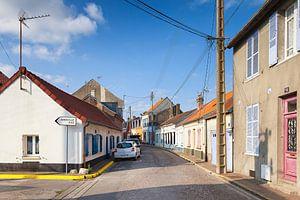 Slaperig straatje in Le Crotoy, Picardië, Frankrijk