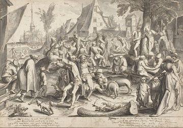 Jahrmarkt der Bauern, Karel van Mander