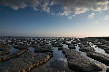 Mer des Wadden à marée basse sur Patrick Verhoef