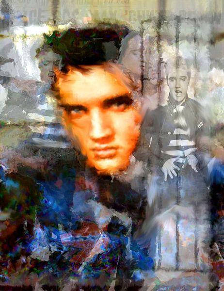 The King Elvis Presley | Elvis Presley Pop Art van Leah Devora