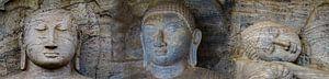 Drieluik Boeddha beelden