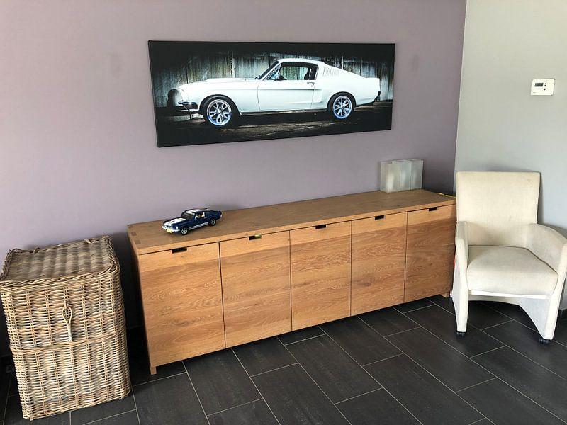 Klantfoto: Ford Mustang  van marco de Jonge, op canvas