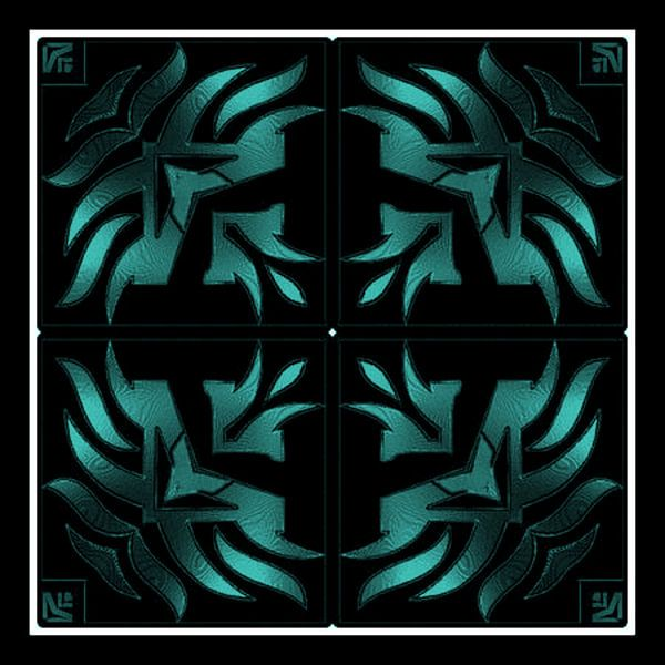 Turquoise Tribal Dream von Nicky`s Prints