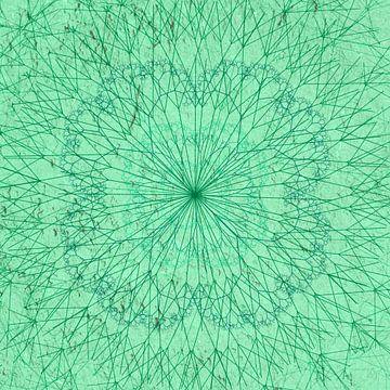 Minimal mandala, groen van Rietje Bulthuis