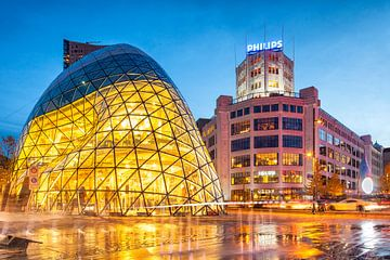 The Blob und die ehemalige Phillips Hauptsitz im Zentrum von Eindhoven, Niederlande von Evert Jan Luchies