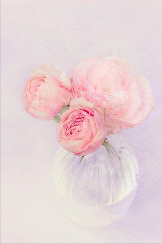 schilderij look met bloem vaas
