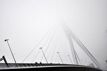 Erasmusbrücke im Nebel von Maurits Eykman