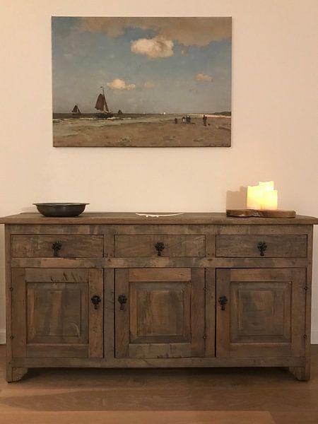 Photo de nos clients: Beach scene, Johannes Hendrik Weissenbruch sur Meesterlijcke Meesters, sur toile