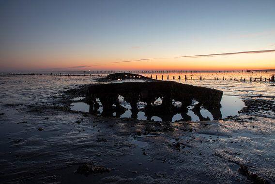 De Waddenzee bij zonsopkomst