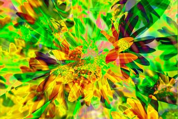 Zonnehoed bloemen abstract van Torsten Krüger
