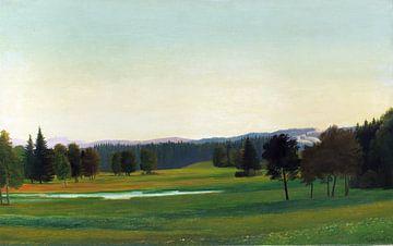 Oberbayerische Landschaft (Landschaft bei Aibling), Georg Schrimpf, 1932