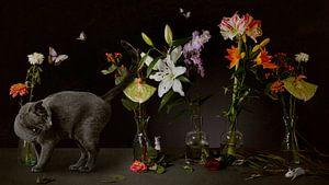 Stillleben Partytisch mit kleinen Besuchern. von Cindy Dominika