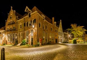 Deventer Bergstraat met sterrenhemel van