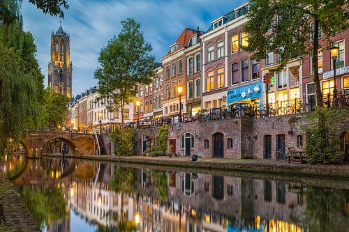 Utrecht - Spiegelende Oudegracht  van