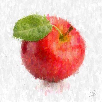 Pomme rouge sur Theodor Decker