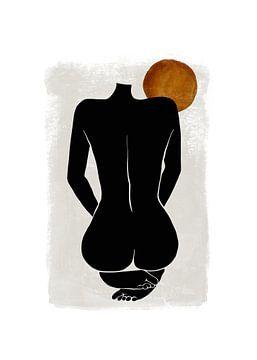 Weiblicher Akt - Erotische Silhouette weiblicher Körper von Diana van Tankeren