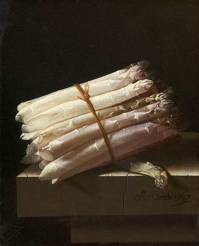 Stilleven met asperges - Adriaen Coorte van Marieke de Koning