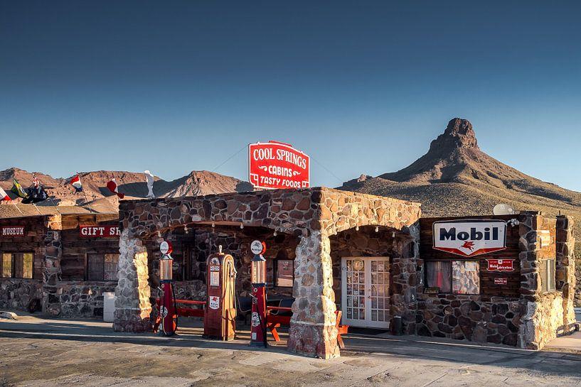Alte Tankstelle an der Route 66 van Kurt Krause