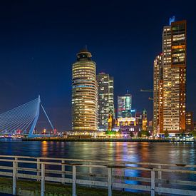 Rotterdam Wilhelminapier Erasmusbrug Panorama van Evert Buitendijk