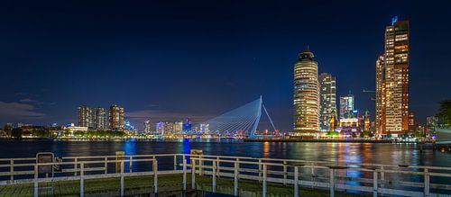 Rotterdam Wilhelminapier Erasmusbrug Panorama van