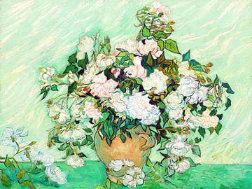 Vase de roses - Vincent van Gogh - 1890 sur Jan Willem van Doesburg