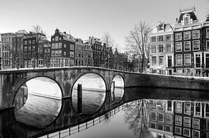 Brug reflectie Amsterdam van