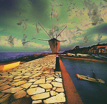 Corfu Windmill von Art Guveau