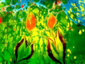 Bloemenzee VII van Maurice Dawson