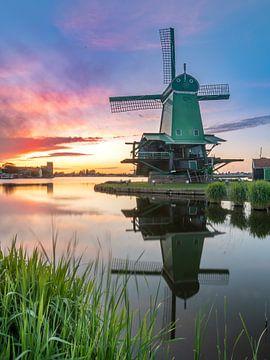 Hollandse zonsondergang van Remco Piet