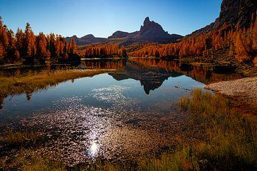 Fedèra-See in Herbstfarben - Venetien - Italien