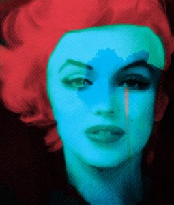 Motiv Marilyn Monroe - The Black Widow - Red